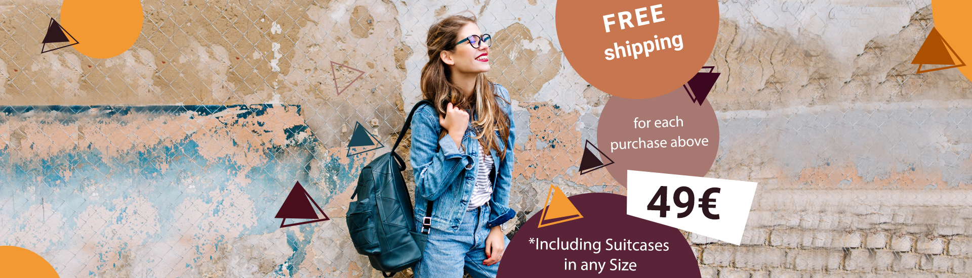 free shipping for purchases over 49 euros
